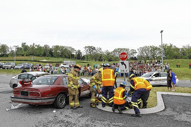 simulated fatal accident is put on by area emergency responders for ...