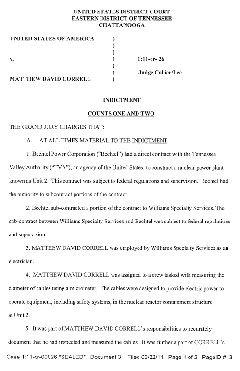 Correll Indictment