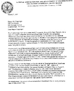 NAACP's letter to the county