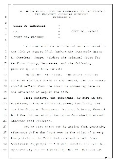 Transcript from Aug. 15 hearing in Judge Barry Steelman's court