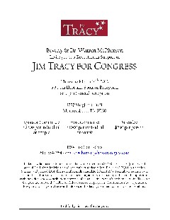 Jim Tracy fundraiser invitation