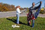 Large turnout helps raise more than 800 flags in Ringgold