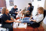 Military families get free spa days from students