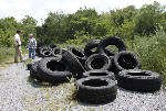More tires dumped in Chattanooga Creek area after cleanup
