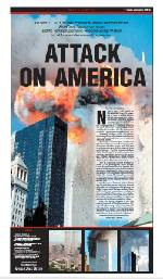 Images of 9/11 Times Free Press Newspaper Fronts