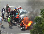Motorcyclist: Life saved by heroes who lifted car in Utah