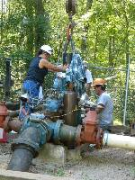 Benton, Tenn., replaces pump for city's deep well water
