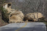 Rock slide keeping Signal Mountain's W Road blocked at least until Wednesday