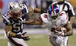 New York Giants win the Super Bowl beating the New England Patriots 21-17