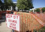Hamilton County to repair courthouse lawn