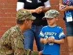 Soon to be deployed soldier throws out first pitch for Lookouts