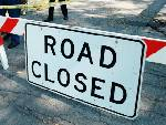 Pitts Road closed today from 9 to 4