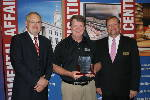 Photo:  Blake Strickland inducted into Credit Union Hall of Fame