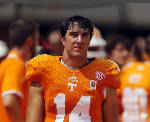 Tennessee Vols a snap away from true freshman at quarterback