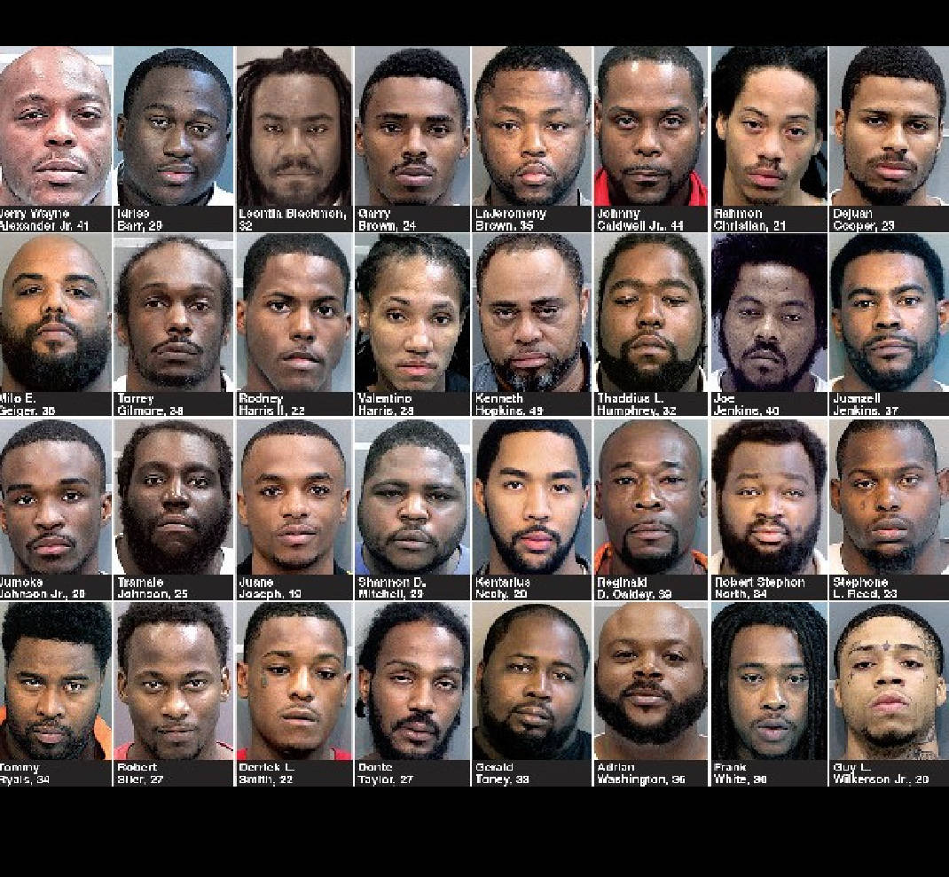 A look at the 32 suspects authorities called 'worst of the