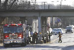 Truck hits railroad overpass in Chattanooga, rails shifted
