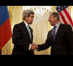 Kerry, Lavrov agree diplomatic solution needed