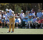 New caddie helps Haas to Masters lead