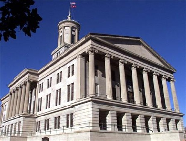 An exterior view of the Tennessee State Capitol building.