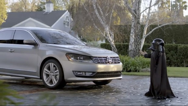 This image provided by Volkswagen shows a scene from one of the company's commercials that aired during the Super Bowl on Sunday, Feb. 6, 2011. (AP Photo/Volkswagen)