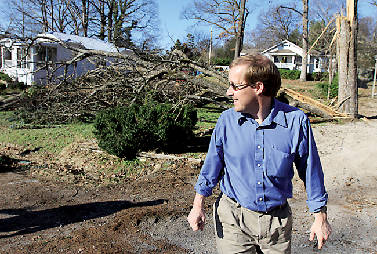 Residents fix damages in tornado's 2 2 mile path   Times Free Press