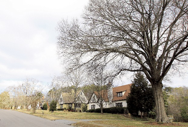 Stately homes on Hilldale Drive add to Ridgeside's charm.