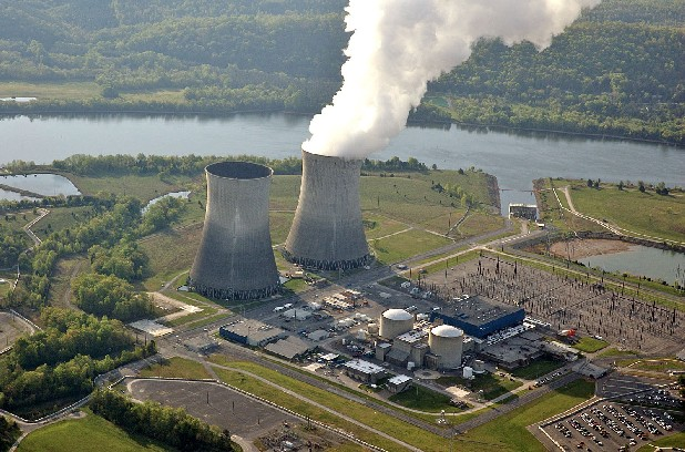 This file photo of April 2007, released by the Tennessee Valley Authority, shows the cooling tower of the single operating reactor at the Watts Bar Nuclear  Plant in Spring City, Tenn. (AP Photo/Tennessee Valley Authority, File)