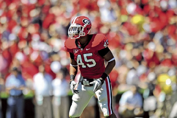 Georgia linebacker Christian Robinson (45)