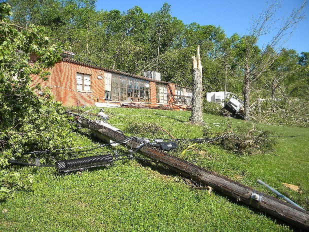Bradley County's Blue Springs Elementary School was hard hit by the April 27 tornadoes.