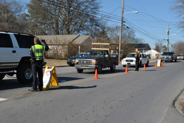 Dalton Police Department roadblocks screen drivers and passengers earlier this year.