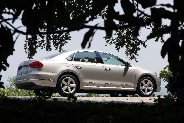 The all-new Chattanooga built VW Passat TDI cruises on East Brow Road atop Signal Mountain early Wednesday afternoon. 