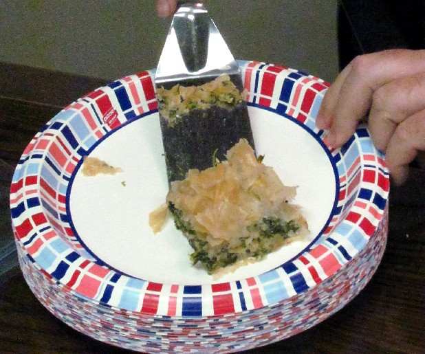 Spanakopita, a Greek spinach pie, was cooked by Rhea County culinary expert Richard Daugherty at the Clyde W. Roddy Library on Tuesday afternoon.