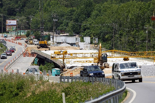 The bridge at Lookout Creek on Cummings Highway is still under construction after two years. The project is scheduled to be completed in July.