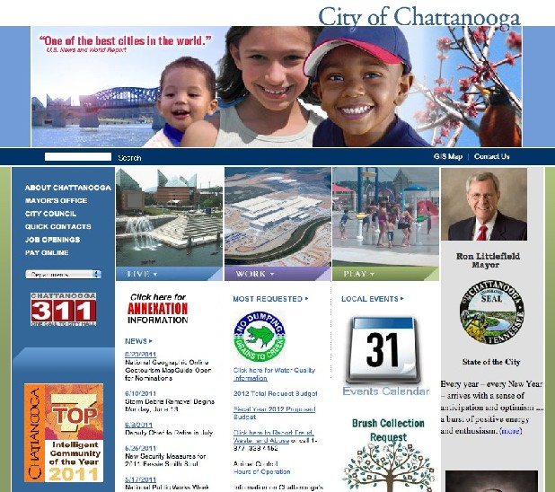 www.Chattanooga.gov needs a redesign, the city says.