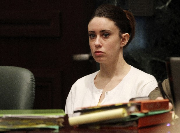 Casey Anthony sits in court for her murder trial at the Orange County Courthouse today in Orlando, Fla. Anthony, 25, is charged with killing her daughter Caylee in the summer of 2008. (AP Photo/Red Huber, Pool)