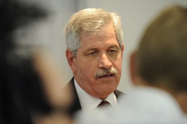 Hamilton County Schools Superintendent Rick Smith speaks to the media in this file photo.