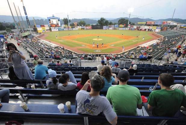 Spectators in AT&T Field's $4 general-admission seats watch the Chattanooga Lookouts.