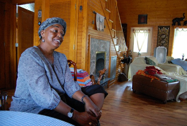 Va'Lory B. Jenkins, a resident of Cagle Mountain in Sequatchie County, Tenn., talks about feeling singled out for her skin color by others in the community.
