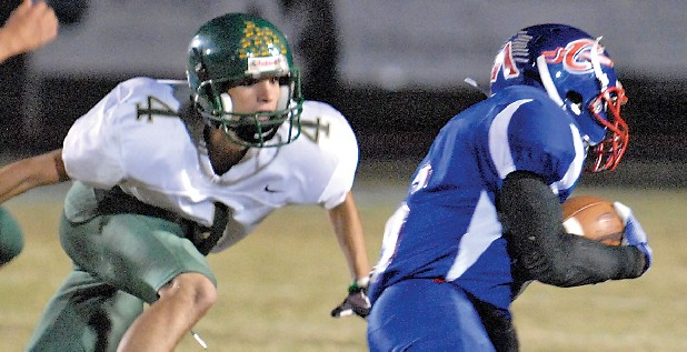 After all the coach shuffles in the offseason, Rhea County senior Tyler Mize, left, is ready to play.