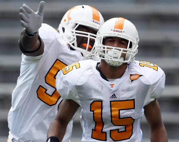 Tennessee free safety Janzen Jackson (15) has been kicked off the Vols football team.