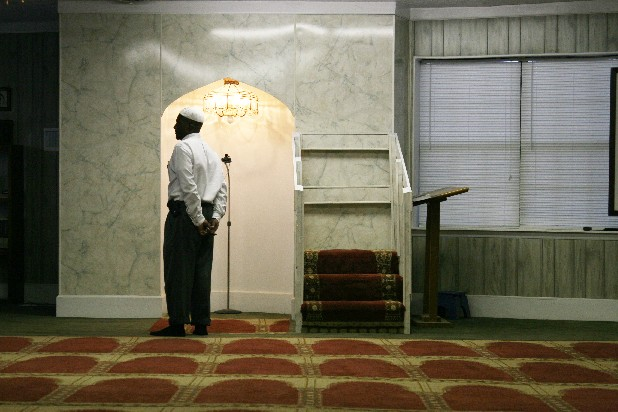 Imam Hammad El-Ameen prepares to lead a prayer at the mosque on Central Avenue in Chattanooga. It is the oldest of several mosques in the area.