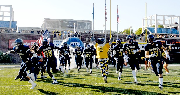 UTC takes the field at the start of the game.  The Mocs defeated Jacksonville State 38-17 at Finley Stadium Saturday.
