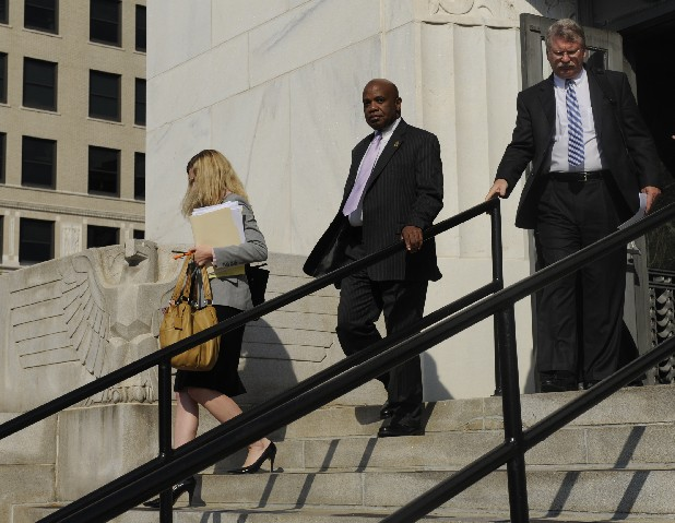 Former Police Chief Freeman Cooper walks out of the U.S. District Court building after he testified Monday.