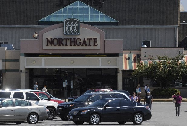 Patrons enter Hixson's Northgate Mall in this file photo.