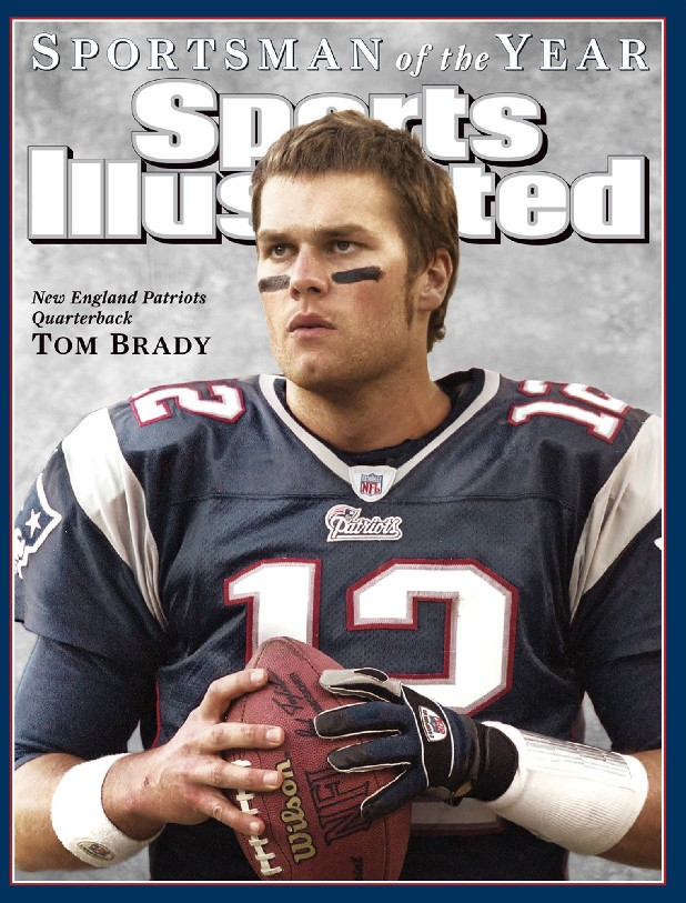This handout from Sports Illustrated  shows the cover of the Dec. 12, 2005 issue, featuring Tom Brady, the 2005 Sports Illustrated  Sportsman of the Year. The issue will hit newsstands on Dec. 7. (AP Photo/HO, Sports Illustrated)