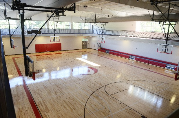 One of two full-size gyms is seen at the new Dalton Community Center. Scheduled to open in December, the facility is located at the corner of Martin Luther King Blvd. and Frederick Street.