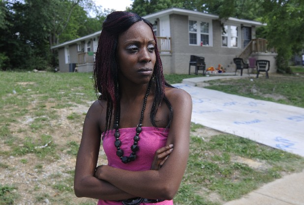 "Sharda Stoudemire talks in July about the shooting of her boyfriend, Melvin ""Brando"" Fennell in Chattanooga. New research shows that Tennessee has the highest rate of gun crime of any U.S. state."