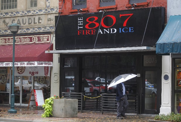 The 807 Fire and Ice club is located on Market Street.