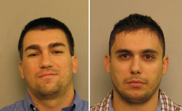Atanas Georgiev, 28, left, and Chris Dragiev, 27, were arrested in Nashville after a card skimmer was installed on an ATM, Dalton police believe the men are involved in a similar incident at a local Regions Bank.