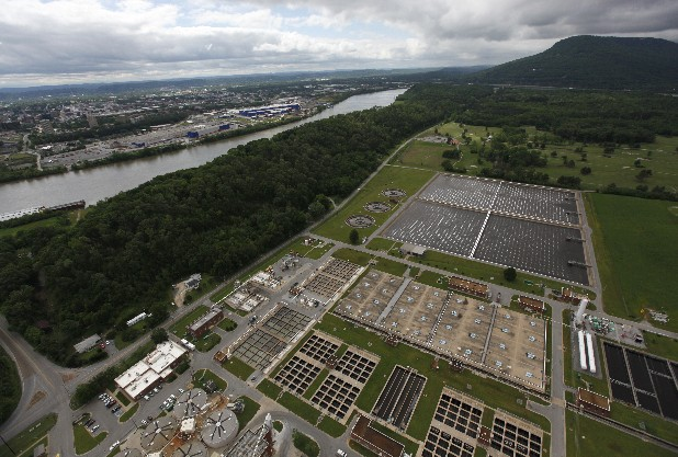 The wastewater treatment plant for Chattanooga is located at Moccasin Bend.